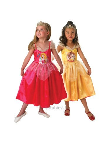 Disney Aurora to Belle Reversible Kids Costume -Small