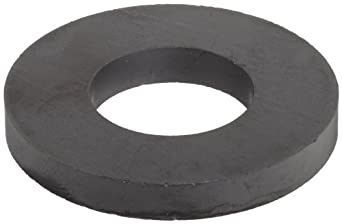 "Ceramic Ring Magnets, 1.75"" Outer Diameter, 0.865"" Inner Diameter, 0.225"" Thick (Pack of 2)"