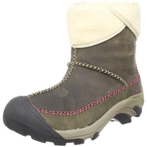 Keen Women's Hoodoo Mid Waterproof Winter Boot,Brindle/Mauve Wine,5.5 M US