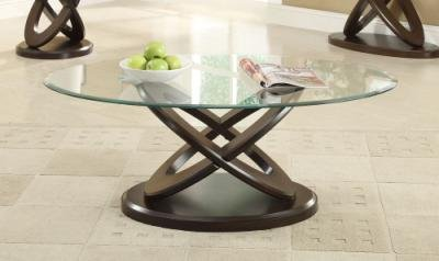 Glass Top Intersecting Ring Coffee Table By Coaster Furniture