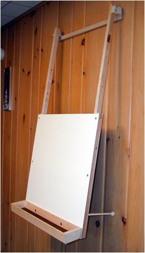 Hanging Easel with art supply tray