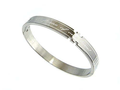 One point crystal message Bangle silver surgical stainless steel fashion jewelry [conditioning] ring Bracelet (mens)