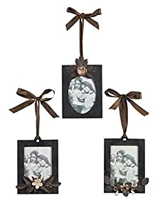 Metal Hanging Photo Frame Picture Holder Ribbon Hanger