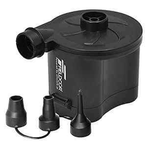 FIELDOOR 電池式電動エアーポンプ (空気入れ&空気抜き両対応)