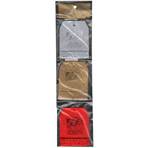 Jam Paper® - Holiday Gift Tags With String - 6 Tags Per Pack front-327958