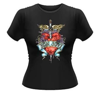 Official Skinny T Shirt BON JOVI Heart & Dagger LOGO PH S 8