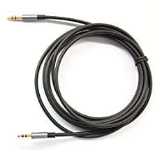 buy Black 3Ft Gold Plated Design 3.5Mm Male To 2.5Mm Male Car Auxiliary Audio Cable Cord Headphone Connect Cable For Apple, Android Smartphone, Tablet And Mp3 Player