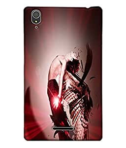 Fuson Man with wings Back Case Cover for SONY XPERIA T3 - D3645