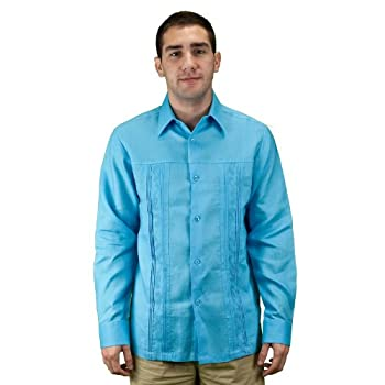 Mens shirt for wedding in the beach, turquoise.