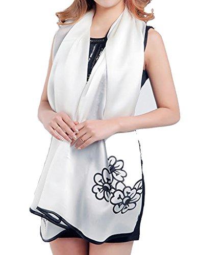 helan-femmes-reel-soie-naturelle-175-x-65-cm-foulards-longs-camelia-blanc
