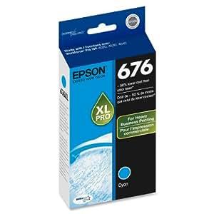 Epson T676XL220 DURABrite Ultra 676 Inkjet Cartridge -Cyan