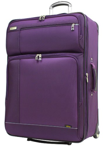 Ricardo Beverly Hills Venice Lite Luggage 28-Inch Expandable Upright, Purple Plumeria/Black Iris