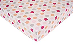 Carter\'s Crib Fitted Sheet, Girl Dots