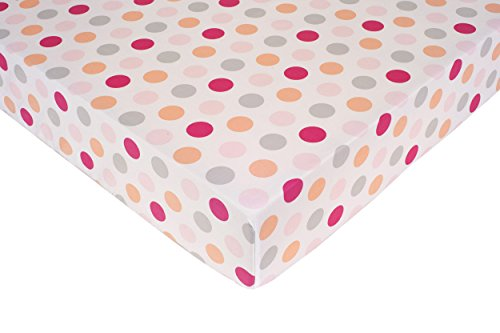 Carter's Crib Fitted Sheet, Girl Dots