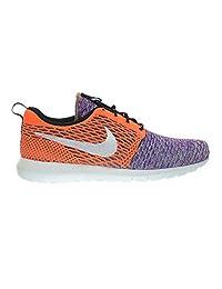 Nike Flyknit Rosherun Men's Running Shoes White/White/Orange/Blue 677243-100