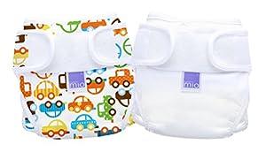 Bambino Mio Miosoft - Cubrepañales (1 unidades, talla 2), diseño liso y con coches, color blanco y multicolor de Bambino Mio - BebeHogar.com