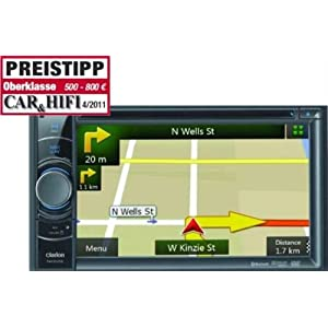 Ecran R/étractable Europe Fixe 16:9 Clarion NZ501E GPS Syst/ème de Navigation