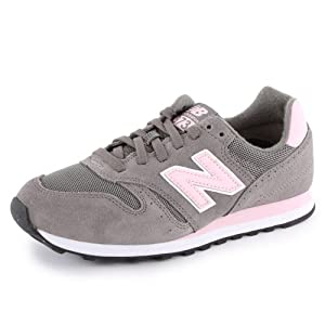 New Balance 373 W373SGP Womens Suede & Mesh Laced Running Trainers Grey Pink - 3