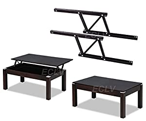 Black Lift Up Modern Coffee Table Desk Mechanism Hardware