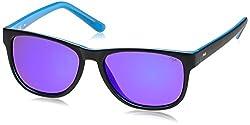 Fila Iridium Wayfarer Men's Sunglasses - (SF903456U66BSG|56|Brown with Blue Mirror)