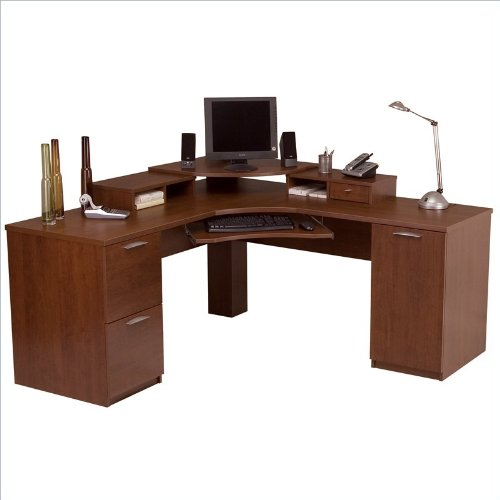 Bestar Elite Corner Workstation In Tuscany Brown
