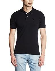 Arrow Sports Men's Cotton Polo (8907036514704_AREK0154B_S_Black)
