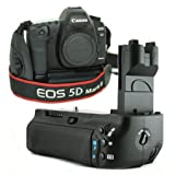Mcoplus - Professional Battery Grip Holder Pack Replace BG-E6 BGE6 Vertical for Canon EOS 5D Mark II Camera