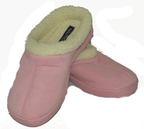 Women's Nautica Ultra Soft Pink Fleece Slippers 7