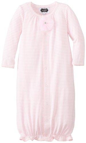 Mud Pie Baby-Girls Newborn Convertible Sleep Gown, Pink, 6-9 Months front-1063337