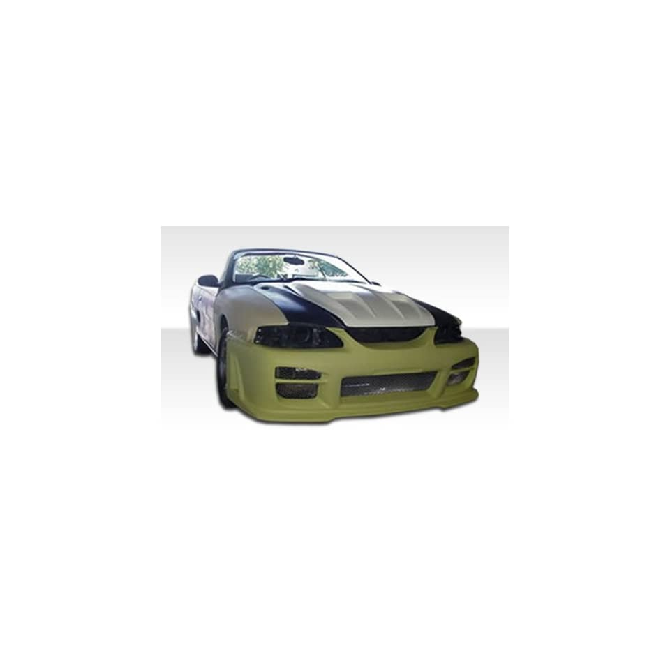 1994 1998 Ford Mustang Duraflex R34 Kit Includes R34 Front Bumper (101429), Vader Rear Bumper (101441), and Vader Sideskirts (101442).
