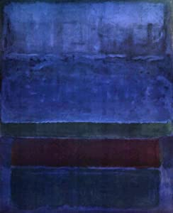 "MARK ROTHKO, Blue, Green, Brown, CANVAS museum replica 37""x30"" ready-to-hang"