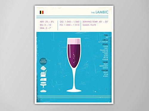 lambic-art-print-beer-print-beer-poster-lambic-print-digital-beer-print-lambic-beer-poster-beer-art-
