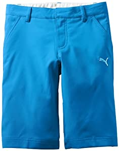 Puma Golf Women's Junior Tech Short, Brilliant Blue, Medium