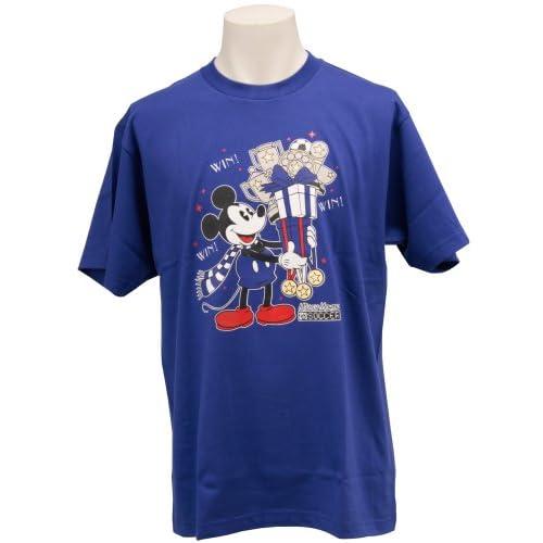 (Jリーグエンタープライズ)J.LEAGUE ENTERPRISE 日本代表 ミッキーマウスTシャツ(WIN!) SAMURAIBLUE M 11419185 L4285  ブルー M