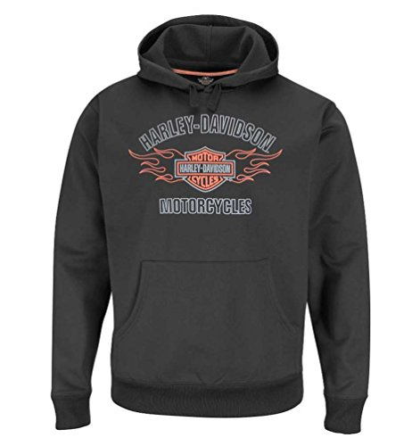 Harley-Davidson Men's Performance Fabric Pull-Over Hooded Sweatshirt HW22-H41Z