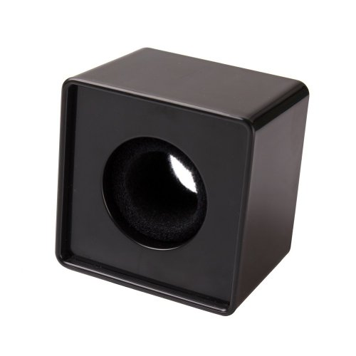 Ushoppingcart 1Pc Black New Square Cube Pattern Abs Mic Microphone Interview Logo Flag Station 39Mm Hole