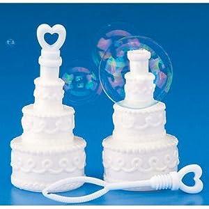 Fun Express Educational Products - Plastic Wedding Cake Bubble Bottles (2 dz) - 2 Dozen
