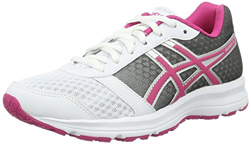 Asics Patriot 8, Scarpe da Ginnastica Donna, Bianco (White/Sport Pink/Silver), 39 EU