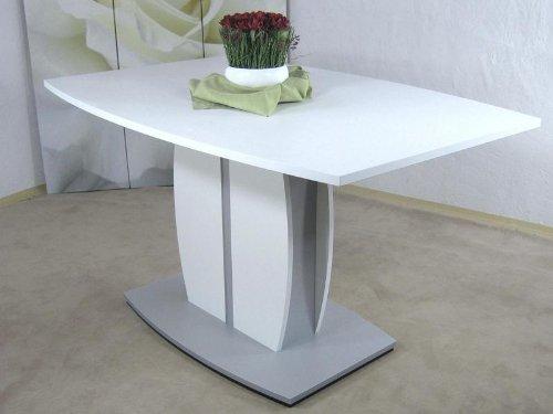 Sulentisch-weiss-Esstisch-Esszimmertisch-Tisch-Esszimmer-Melamin-U-Bott-Form