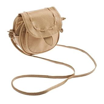 Zehui Cute Lovely Light Brown Womens Small Handbag Baguette Satchel Shoulder Messenger Evening Bag