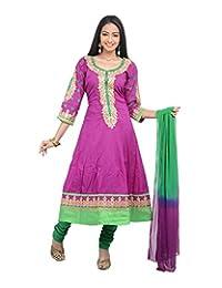 Sareeshut Women's Cotton Regular Fit Anarkali Suits - B00WQZ269A