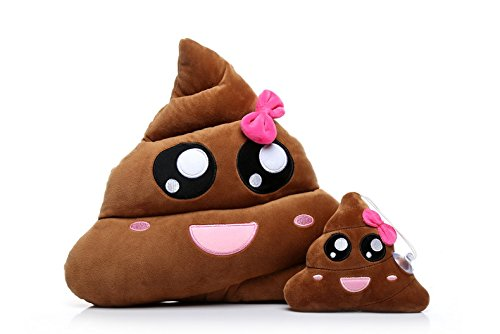 Fantastic Deal! Ignislife Pair of Cute Emojis Poop Pillows Plush Toys Throw Pillows