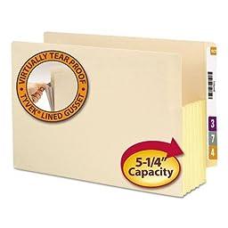 SMD76174 - Smead 76174 Manila End Tab File Pockets with Reinforced Tab