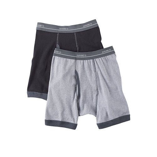 Hanes Boy's Ringer Boxer Briefs 5-Pack B747R5, Assorted, S