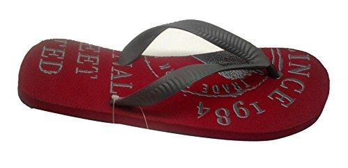 Gas Gas Men's Street Rubber Flip Flops Thong Sandals (Grey)
