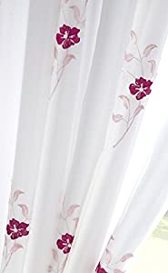 """Pink White Pearls 57x54"""" Fully Lined Pencil Pleat Thick Voile Curtain Drapes by Curtains"""