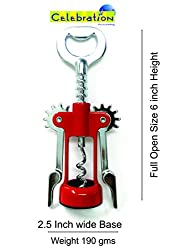 Stainless Steel Wing Style Wine / Champagne / Bottle Corkscrew Opener By Celebration