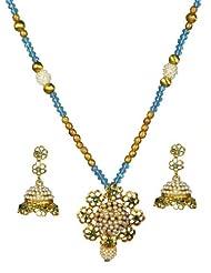 Kshitij Jewels Metal Pendant Necklace Set For Women (KJ 165)