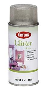 Krylon 4-Ounce Glitter Aerosol Spray, Shimmering Silver