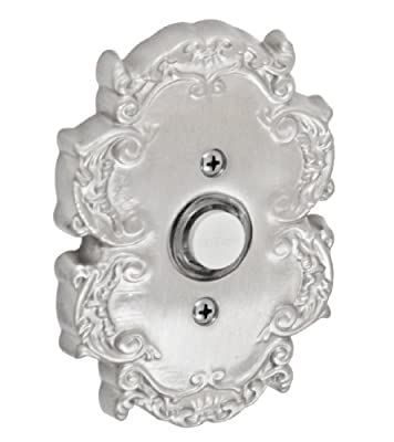 Fusion Hardware BEL-C8-BRN Designer Collection Victorian Doorbell, Brushed Nickel, 1-Pack